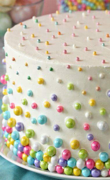 renkli incili cocuk pasta modelleri   Kadinlar Sitesi