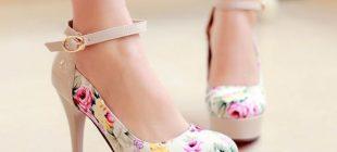 Çiçek Desenli Modern Platform Ayakkabı Trendleri