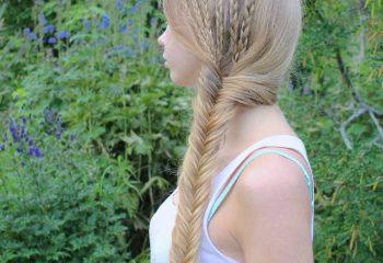 Saç Örgüsü İle Yapılmış En Yeni Saç Modelleri