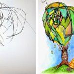 2 Yaşındaki Kızı Karaladı, Anne Birer Sanat Eserine Dönüştürdü!