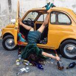Komik Şekilde Düşmüş Gibi Poz Verenlerin Fotoğraf Sergisi!