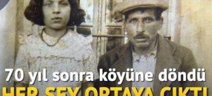 70 yıl sonra köyüne döndü her şey ortaya çıktı: Film gibi hikaye… 70 yıl sonra kardeşlerini buldu