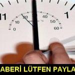 Dikkat! Pazar günü saatinizi kontrol edin