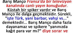 Barış Manço'dan Fransız Sunucuya Kapak