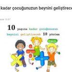 10 Yaşından Küçük Çocuğu Olanlar Dikkat: Bu 10 Teknikle Çocuğunuzun Beynini Geliştirebilirsiniz