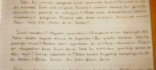 Türkçe öğretmeni 6. Sınıf öğrencilerinden 20 yıl sonraki kendisine mektup yazmasını istedi bir öğrenci öyle bir mektup yazdı ki