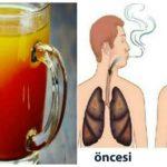 SİGARA İÇEN HERKES BU YAZIYI MUTLAKA OKUSUN. Bu içecek akciğerleri temizliyor!