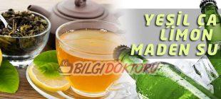 Limon, Yeşil Çay, Maden Suyuyla Zayıflama Kürü Tarifi