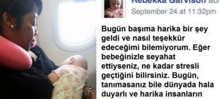 Yolcular, Ağlayan Bebekten Rahatsız Oldular Bakın Başka Bir Anne Günü Nasıl Kurtardı.