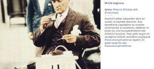 Megastar Tarkan Atatürk'e hakaret edenlere karşı sessiz kalamadı