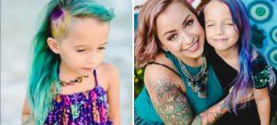 Kızının Saçını Boyadı Diye Eleştiri Yağmuruna Tutuldu – Annenin Verdiği Cevap Onları Yerin Dibine Soktu