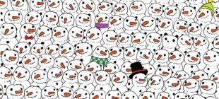 Görsel Zeka Testi: Bakalım Kardan Adamların Arasına Gizlenmiş Ve Kimsenin Göremediği Pandayı Bulabilecek Misiniz