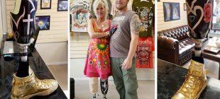 Hayattan Ümidini Kaybetmiş Ve Tek İsteği Protezine Dövme Yaptırmak Olan Kadına Yardım Eli Uzatıldı