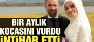 Genç kadın kaçarak evlendiği bir aylık eşini vurdu Annesi  'Kızım ne yaptın' diye bağırdı. Bu sırada genç kadın, aynı tabancayı başına dayayarak annesinin gözü önünde intihar etti.