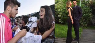Alvaro Morata hayranı ile evlendi Solda imza anında ilk kez göz göze geldikleri anı görüyorsunuz işte rüya gibi düğünden kesitler