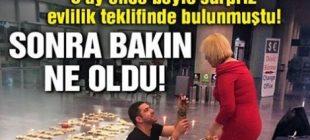 Boynunu kestiği kadına, havalimanında sürpriz evlenme teklifi yapmıştı