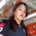 Ambulansta dehşet anları… Ağır yaralanan adam 112 ekibini boğmaya çalıştı!