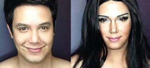 Makyajla istediği ünlü kadına dönüşebiliyor