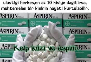 Neden yatağınızın başucunda aspirin olsun? ( ÖNEMLİ )