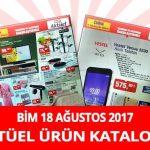 Bim 18 Ağustos 2017 Aktüel Ürünler Kataloğu
