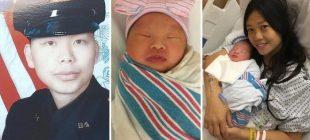 Eşinin öldürülmesinden 2 buçuk yıl sonra, çocuğunu doğurdu