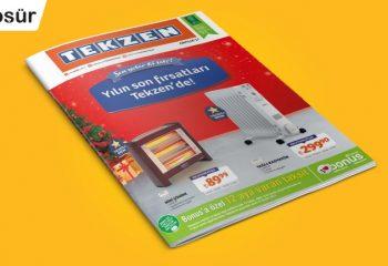 Tekzen Yapı Market 01 Aralık – 04 Ocak 2017 Kampanya Broşürü!