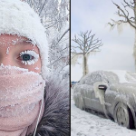 Dünyanın en soğuk köyü -62 dereceyi gördü! Kirpikleri bile dondu