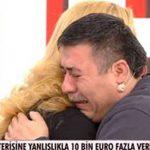 Dalgın veznecinin fazladan ödediği 10 bin euroyu Müge Anlı buldu Bulundu Haberini Alan Vezneci Canlı Yayında Gözyaşlarına Boğuldu