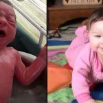 Bebeklerini yıkarken fark edip dehşete düştüler
