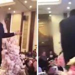 Damadın babası sarhoş olup düğünde gelini dudağından öptü! Akıl almaz olay kameralara an be an yansıdı