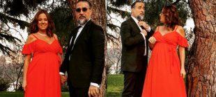 Ali Sunal'ın düğününe katılan Doğa Rutkay'ın karnının iyice belirginleştiği görüldü