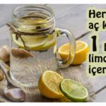 Sabahları içilen ılık limonlu suyun faydaları saymakla bitmiyor Her sabah mutlaka için