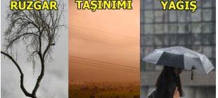 Son Dakika: Meteoroloji'den kuvvetli rüzgar, toz taşınımı ve kuvvetli yağış uyarısı!