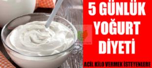 Acil Kilo Vermek İçin 5 Günlük Yoğurt Diyeti