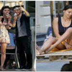 Adriana Lima pozları Metin Hara'ya gösterip onay aldı
