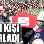 Afrin şehidi UMKE görevlisi Burak Tatar için Erzurum'da tören düzenlendi