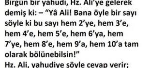 Hz Ali 'nin Yahudiye Verdiği Ders