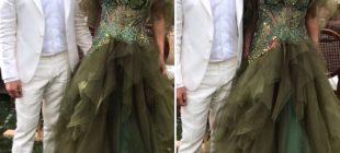 Seren Serengil'in kıyafeti nişan törenine damga vurdu