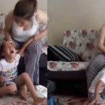Böyle anne olmaz olsun! Öz çocuğuna bunları yaptı, işte kan donduran görüntüler