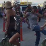 Kocama baktın diyerek turist kadına saldırdı işte saniye saniye o anların görüntüleri