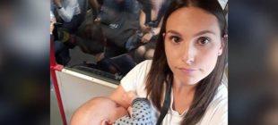 Bebekli anneye kimse yer vermedi Öfkesini sosyal medyada böyle gösterdi!